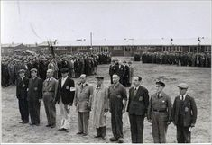 Jews lined up at roll call in Judendurchgangslager Westerbork, the Netherlands.