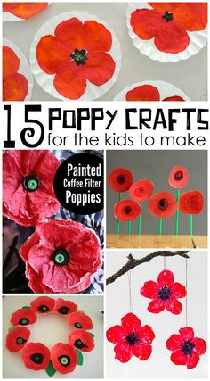 Beautiful Red Poppy Crafts for Kids to Make for Memorial Day - Crafty Morning Poppy Craft For Kids, Crafts For Kids To Make, Art For Kids, Remembrance Day Activities, Remembrance Day Poppy, Veterans Day Activities, Craft Activities, Preschool Crafts, Preschool Kindergarten