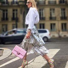 78772f344653 Sparkle, Sparkle 💫 @valerieanne16 wearing @Zara Skirt ( on sale in stores)