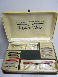 Vintage Glasses with Changeable Frames