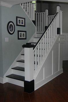 Painted Wood Stair Remodel | remodelaholic.com #stair #remodel #makeover @Remodelaholic .com