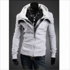 Men's Slim Hooded Fleece Light - Grey (XL) SGD 43.37 (Free Shipping Worldwide)