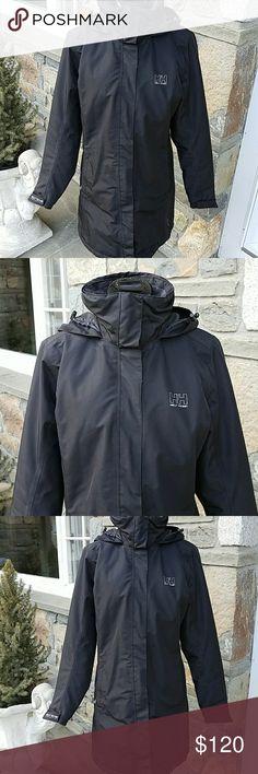 Helly Hansen helly tech long jacket Warmcore by primaloft insulation, stowaway good, full zip, Velcro wrist straps, zip front pockets, nice condition Helly Hansen Jackets & Coats