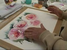 Watercolor roses video - not in English, just turn off the volume and watch the demonstration