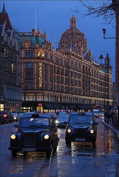 Harrods at Christmas time. It's a destination for fashionistas and the wealthy, as well as tourists who stop in to gawk.  It is also the 2nd most visited place in London. Amazing department store experience.
