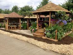 A tropical garden with gazebo | Backyard design ideas | Pinterest ...