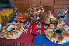 British party food table