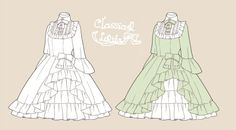 Draw clothing frills