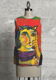 Lady Cat-sleeveless top by VIDA.