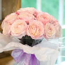 blush peach david austin roses bouquet - Google Search
