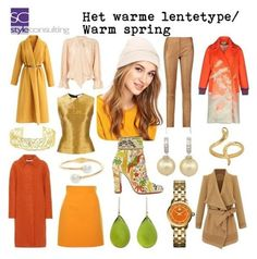 Wat draag je als lentetype in de winter? Bright Spring, Warm Spring, Warm Autumn, Warm Fall Outfits, Spring Outfits, Spring Color Palette, Spring Colors, Colourful Outfits, Colorful Fashion