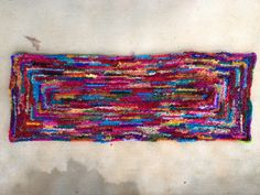 I figure out the particulars of my 2012 state fair project and finish my sari ribbon throw rug - Crochetbug Fair Projects, Freeform Crochet, Sari Silk, Throw Rugs, Ribbon, Knitting, Pattern, Crafts, Dreams