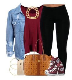 """Got a lil break "" by livelifefreelyy ❤ liked on Polyvore featuring Boohoo, MCM, Converse, Michael Kors and Melissa Odabash"