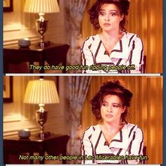 Too true, too true! Helena Bonham Carter discussing her role in Les Mis