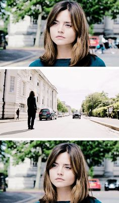 [gifset] 8x11 Dark Water #ClaraOswald #DoctorWho Doctor Who, 12th Doctor, Tv Doctors, Clara Oswald, Hello Sweetie, Jenna Coleman, Two Girls, Dr Who, Tardis