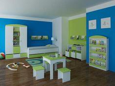 Smutné zeleno-modré - Dětský pokoj