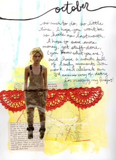 beautiful art journaling from Natalie Malik