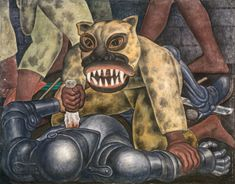 Diego Rivera (1886-1957, Mexican), 1931, Indian Warrior, Fresco on reinforced cement in a metal framework, 104.14 x 133.35 cm, Smith College Museum of Art, Northampton, Massachusetts. © 2011 Banco de México Diego Rivera & Frida Kahlo Museums Trust, México, D.F./Artists Rights Society (ARS), New York