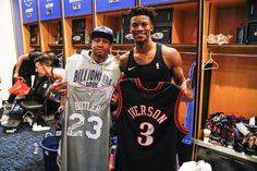 Image may contain: 3 people Show Me The Way, Allen Iverson, Espn, Butler, All Star, Nba, People, Sports Jerseys, Buckets