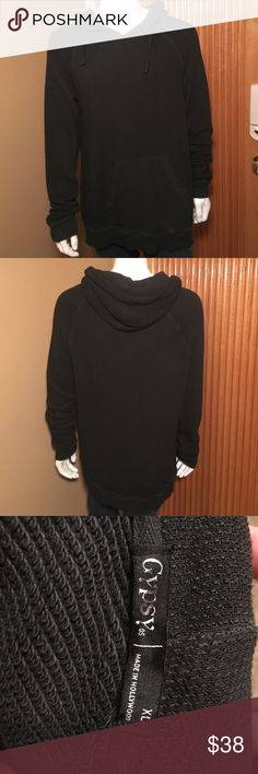 Men's Gypsy Hoodie! Men's Black Gypsy Hoodie! Size XL, Made in Hollywood, in excellent condition only worn a couple times! Gypsy Shirts Sweatshirts & Hoodies