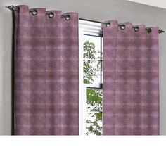 Saffron Purple Centric Grommet Unlined Curtain by TheHomeCentric