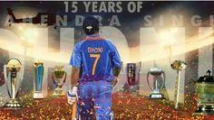 ভারতের সর্বকালের অন্যতম সেরা ক্রিকেটার মহেন্দ্র সিং ধোনি। ২০০৪ সালে আজকের দিনেই ভারতের জার্সিতে আর্ন্তজাতিক কেরিয়ার শুরু করেছিলেন তিনি। Champions Trophy, Sports Update, 15 Years, World Cup, Cricket, The Voice, Baseball Cards, 15 Anos, World Cup Fixtures