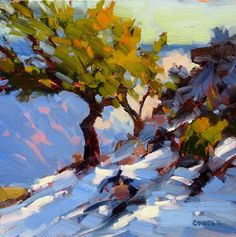 WINTER CANYON EDGE by James M. Coulter Oil ~ 6 x 6
