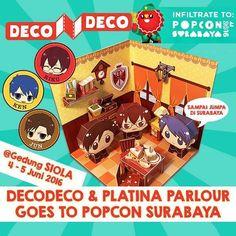 DecoDeco & Platina Parlour bakalan datang ke Popcon Surabaya lho! Jangan lupa ya tanggal 4-5 Juni 2016 nanti kalian harus dateng ke gedung SIOLA Surabaya. Ketemu DecoDeco & Platina Parlour. #decodeco #decodecoclub #platinaparlour #riku #ken #jun #popconsurabaya #popconasia2016 #popconasia #fun #family #craft #artist #papertoy #papercraft #paper #dollhouse #mainananak #mainan #surabaya #siola http://ift.tt/25Cq3Sj Papercraft cute dollhouse