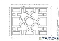 Coffered Ceiling Design Drawing - Bespoke 35