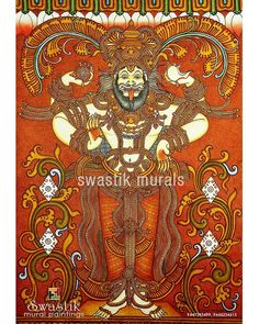 Mural Art, Murals, Bussines Ideas, Kerala Mural Painting, Diy Art Projects, God Pictures, Persecution, Traditional Art, Art Forms