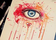 Watercolor and Acrylic Paintings Of Eyes By Svenja Jödicke