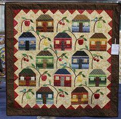 Adorable little house quilt