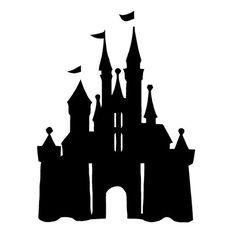 Disney Castle Die Cut Vinyl Decal PV797 ディズニープリンセスのシルエット, シンデレラ城, 妖精