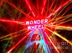 A real Wonder Wheel of Art by Ed Weidman Vivid Colors, Glow, Neon Signs, Creative, Art, Art Background, Kunst, Performing Arts, Sparkle