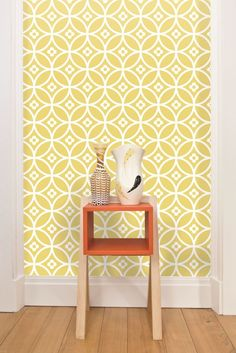 GEOMETRICALLY- Daisy Chain geometric #wallpaper design by Layla Faye.