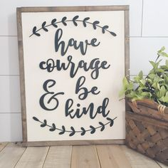 Have Courage and be Kind- wood sign- Cinderella- Custom sign- Handpainted wall art- home decor by TheHandmadeSignCo on Etsy