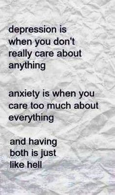 #Depression & #Anxiety .. perfect break down.