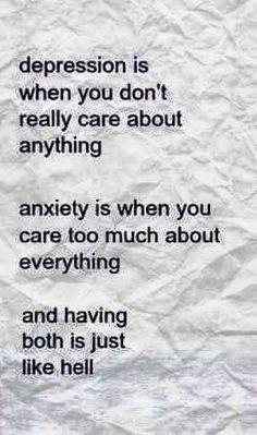 #Depression & #Anxiety .. perfect break down.