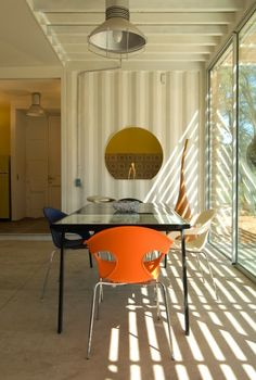 The 160-sq m (1700-sq ft) Manifesto House is built primarily from three reused shipping co...