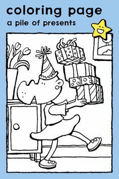 a pile of presents, coloring pages, drawing, colouring picture, kids, birthday, celebrations • een stapel geschenken, kleurplaat, kleurprent, tekening, kinderen, verjaardag, feesten • Ein Stapel Geschenke, Ausmalbilder, Malvorlagen, Zeichnungen, Kinder, Geburtstag, Feste • un tas de cadeaux, coloriage, dessin, image à colorier, enfants, anniversaire, fêtes #freebie #ColoringPages #kleurplaat #Ausmalbilder #coloriage #kids #kinderen #Kinder #enfants #birthday #anniversaire #Geburtstag #verjaardag