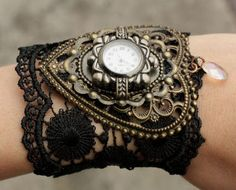 "So I'm not a ""steampunk"" kinda person but this is really cool/pretty... DIY steampunk watch"