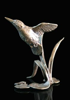 Butler and Peach - Miniature Kingfisher in Cold Cast Bronze Eva Kingston. Butler and Peach - Miniature Kingfisher in Cold Cast Bronze Bird Theme, My Fair Lady, Kingfisher, Bronze Sculpture, Butler, Art Gallery, It Cast, Peach, Miniatures