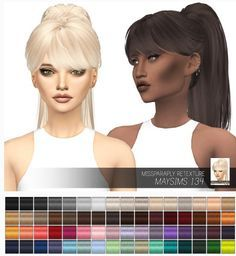 Maysims Solids at Miss Paraply via Sims 4 Updates Check more at… Sims 4 Mods, Sims 3, The Sims 4 Pc, Sims 4 Game, Pelo Sims, The Sims 4 Cabelos, Sims 4 Characters, Sims Hair, The Sims 4 Download