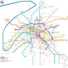 Paris subway.