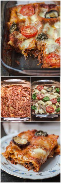 Rustic Three Cheese Lasagna