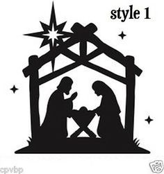 """"""" Oh Holy Night Manger Scene 2 """" Computer Die Cut Oracal 10 Year Interior Vinyl Sticker MADE IN THE USA. Has a 10 year indoor durability and can be removed without leaving a residue, But not reusable. Christmas Decals, Christmas Art, Christmas Projects, Christmas Decorations, Christmas Ornaments, Christmas Silhouettes, Christmas Manger, Christmas Nativity Scene, Silhouette Projects"""