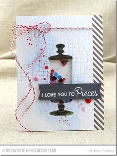 Candy Jar Companions, Distressed Patterns, Grid Background, Blueprints 20 Die-namics, Candy Jars - Barbara Anders   #mftstamps