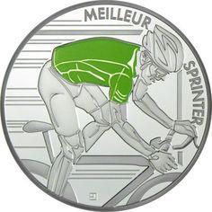 10 Euro Silber Tour de France: Grünes Trikot PP