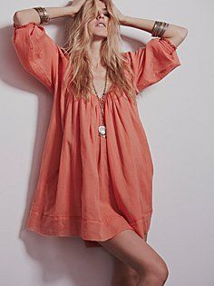 Pop Stitch Swing Tunic $98... Got this in the color shown (Coral)