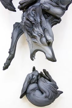 Ceramic artist Beth Cavener Stichter creates animals that expose dark or radical aspects of human nature.